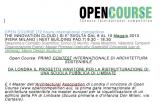 Open Course – Concorso di Progettazione