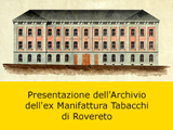 Presentazione archivi della Manifattura Tabacchi
